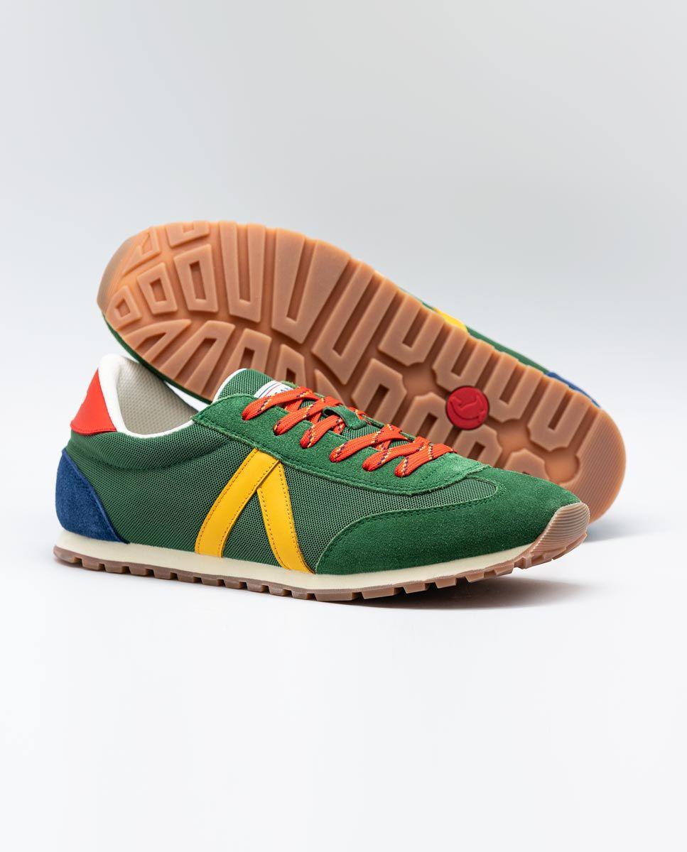 Green Nylon Running Sneakers W TrekkingMesh Image 3