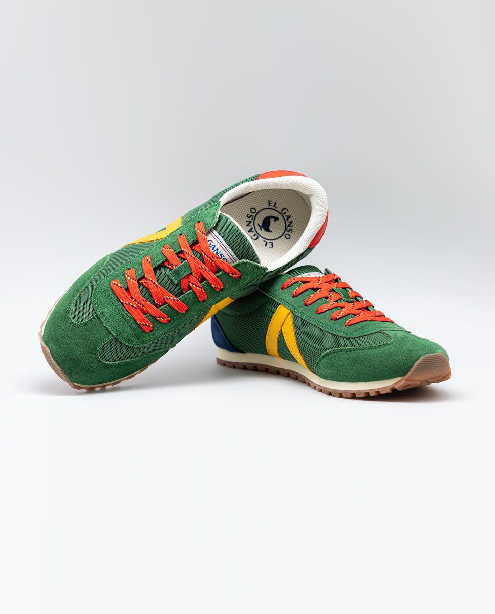 Green Nylon Running Sneakers W TrekkingMesh Image 4