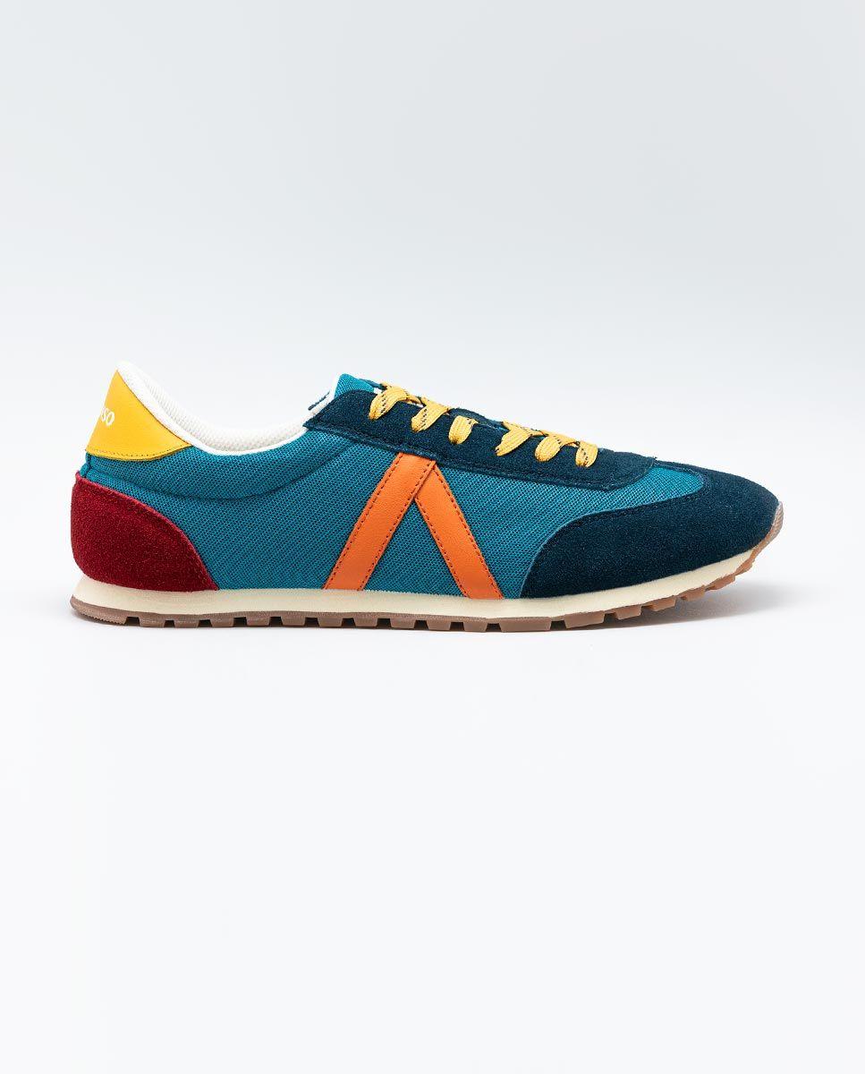 Blue Nylon Running Sneakers W Trekking Mesh Image 2