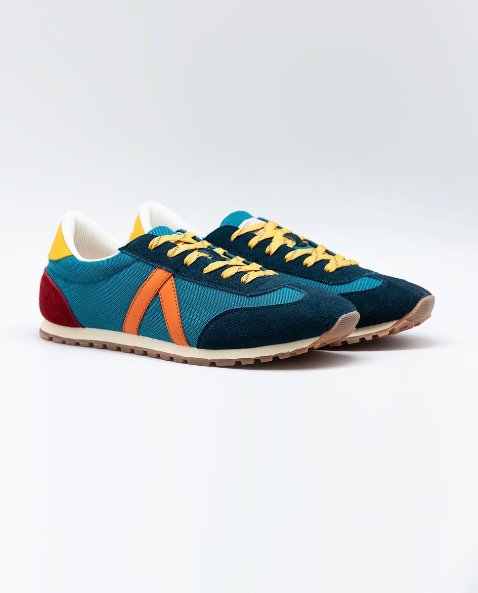 Blue Nylon Running Sneakers W Trekking Mesh Image 1