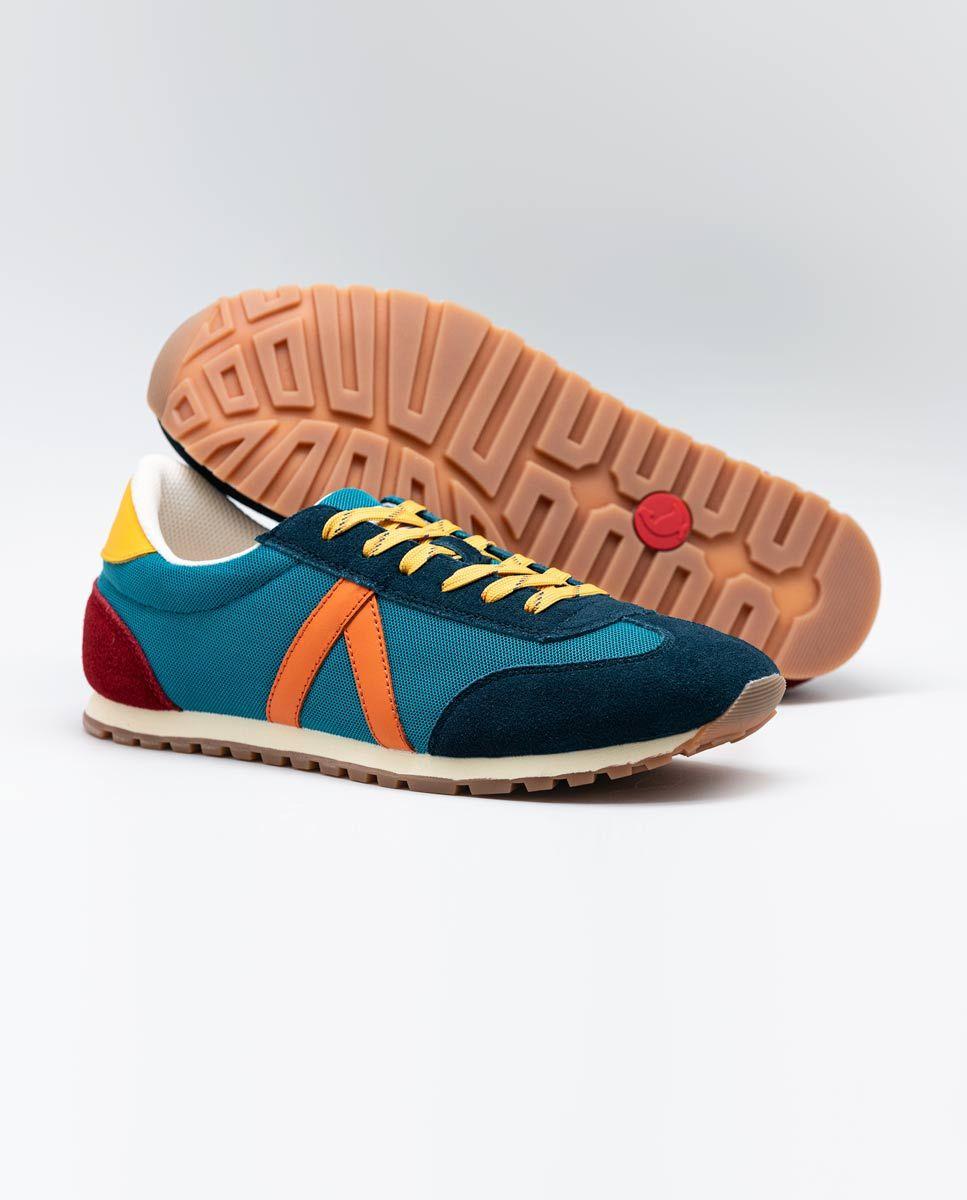 Blue Nylon Running Sneakers W Trekking Mesh Image 3