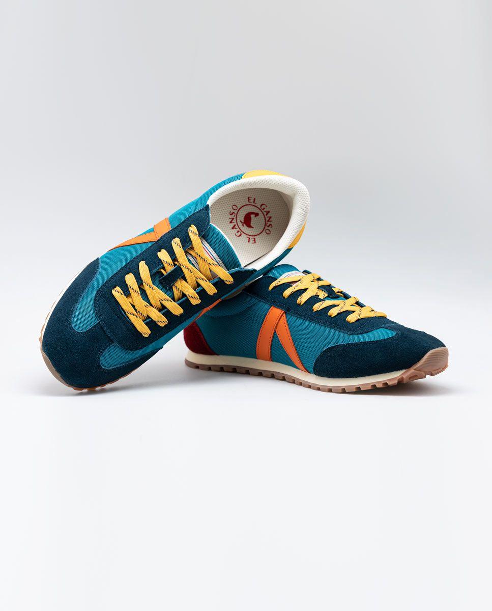 Blue Nylon Running Sneakers W Trekking Mesh Image 4