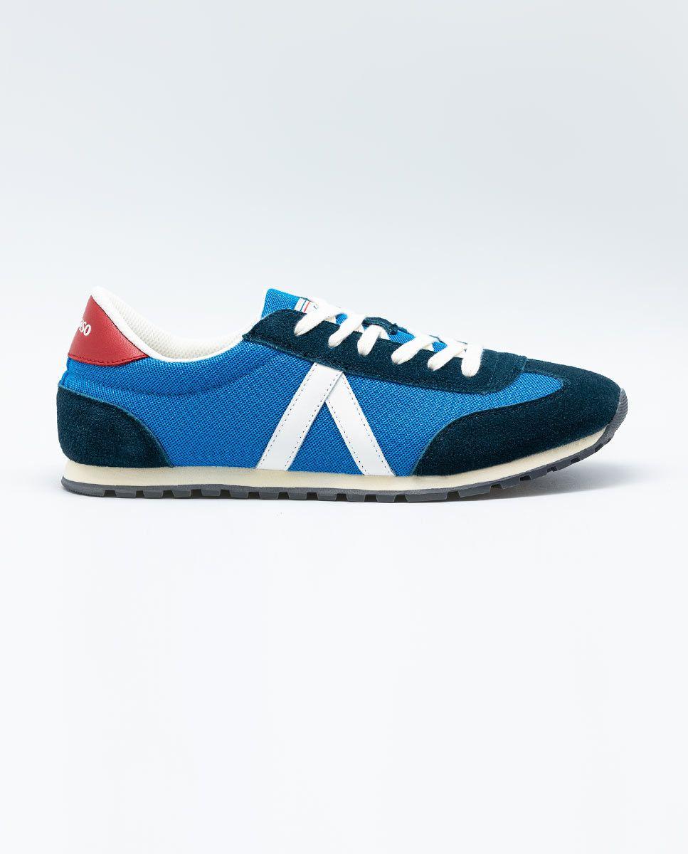 Blue Nylon Running Sneakers W Mesh. Image 1