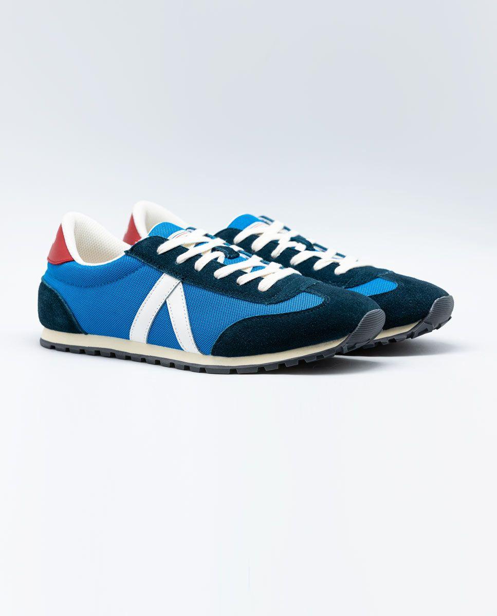 Blue Nylon Running Sneakers W Mesh. Image 2