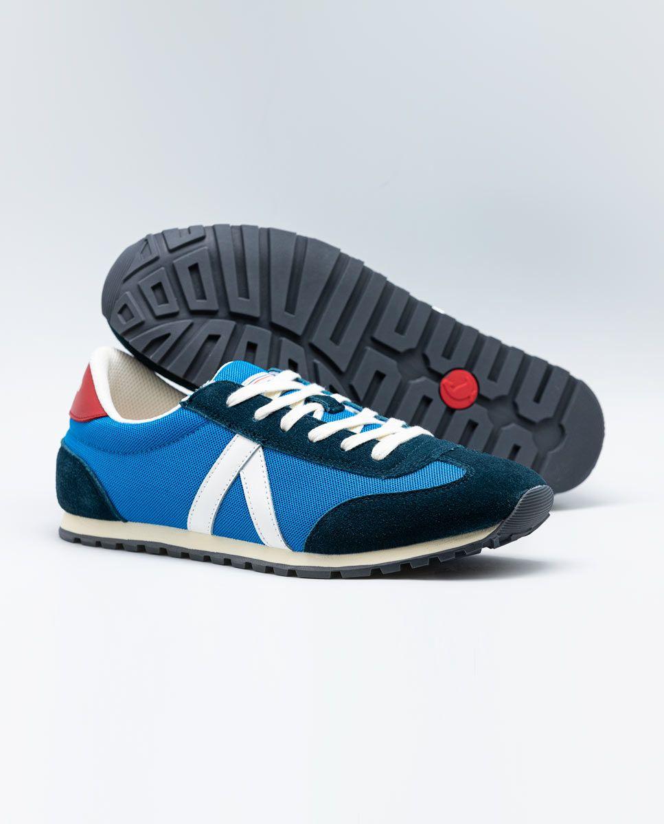 Blue Nylon Running Sneakers W Mesh. Image 4
