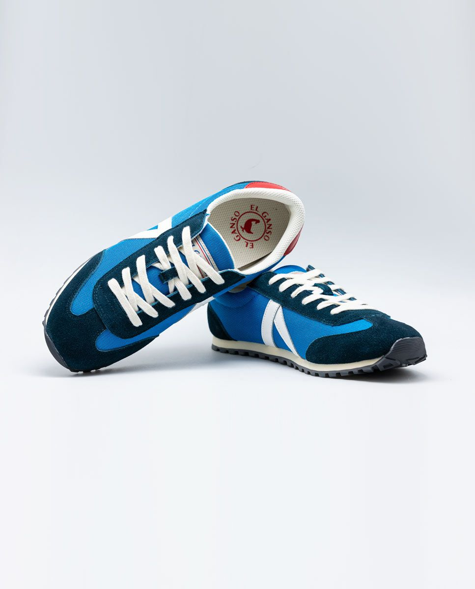 Blue Nylon Running Sneakers W Mesh. Image 3