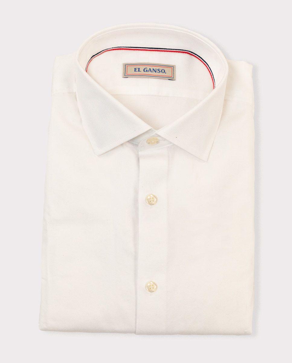 White Twill Dress Shirt Image 6