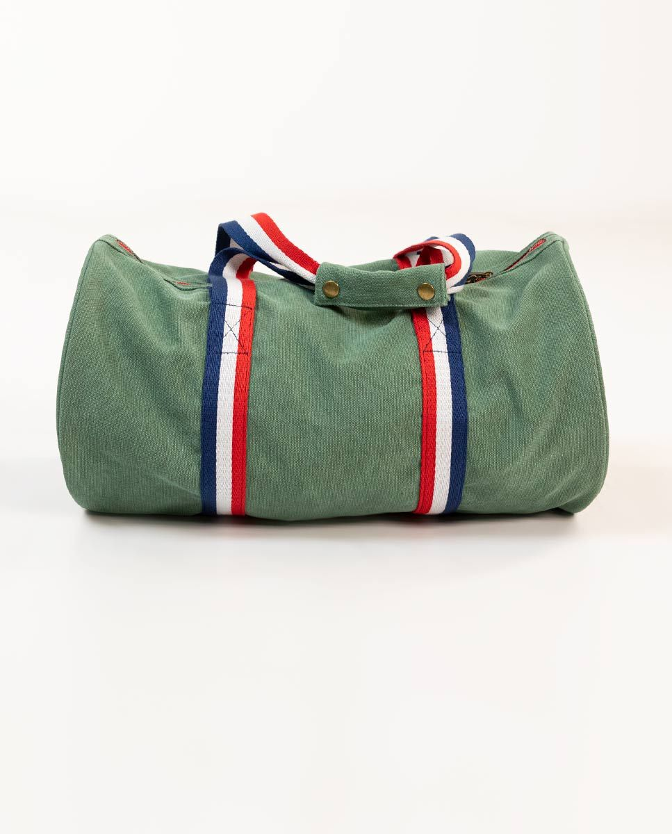 Duffle Canvas Washed Verde Image 4