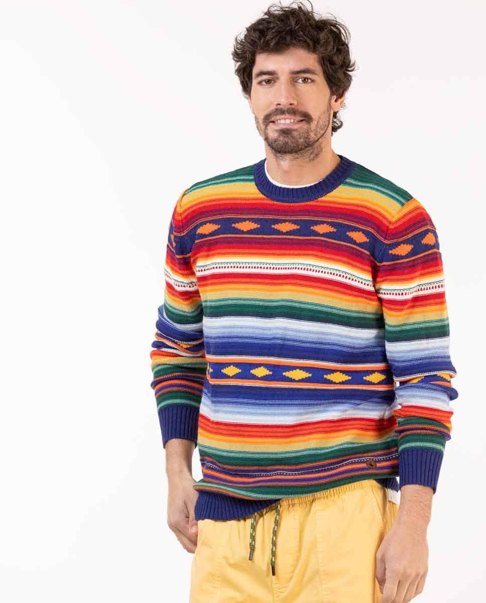 Jersey Rayas Multicolor Étnico Image 1