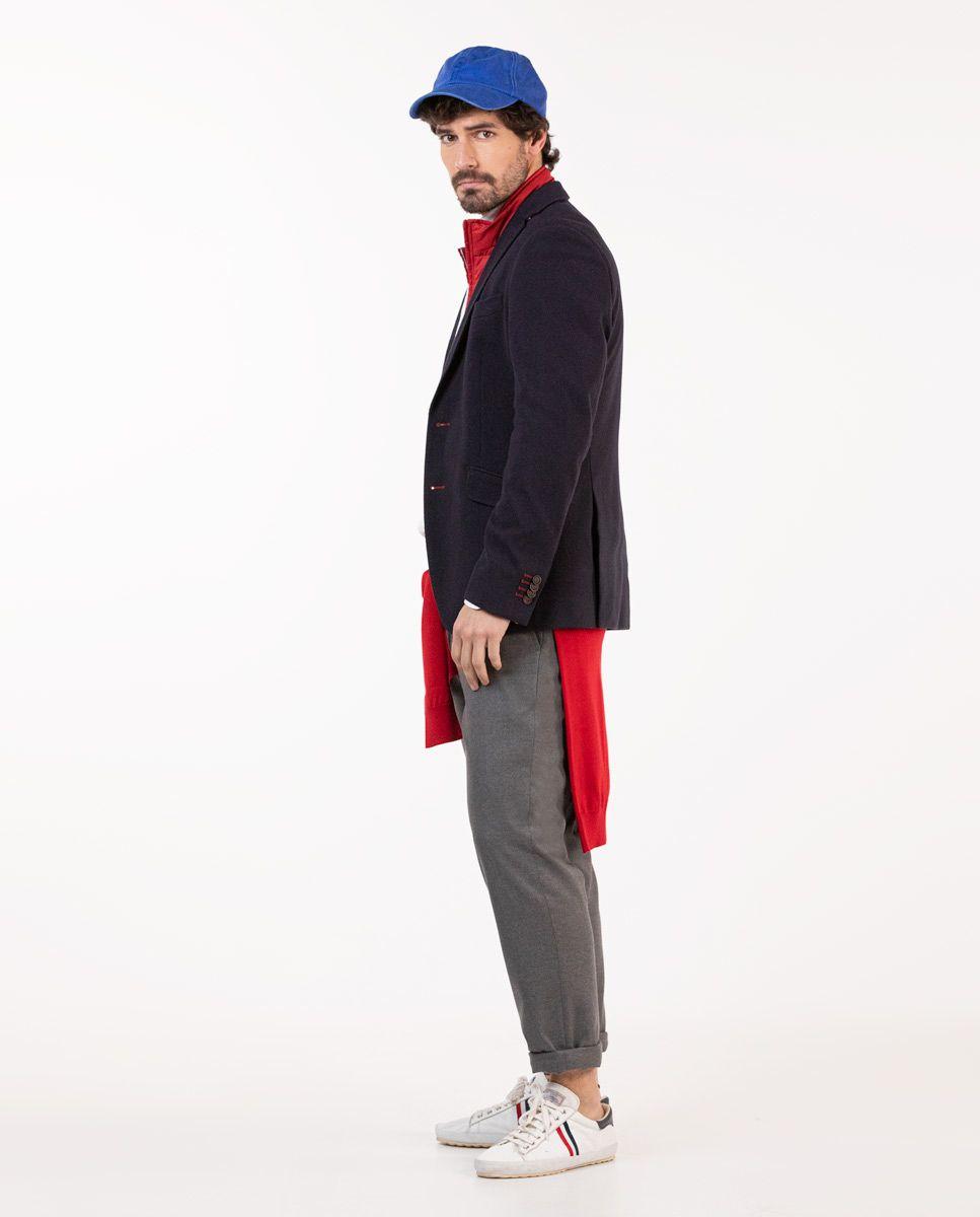 Navy Knit Blazer W/ Lining Image 2