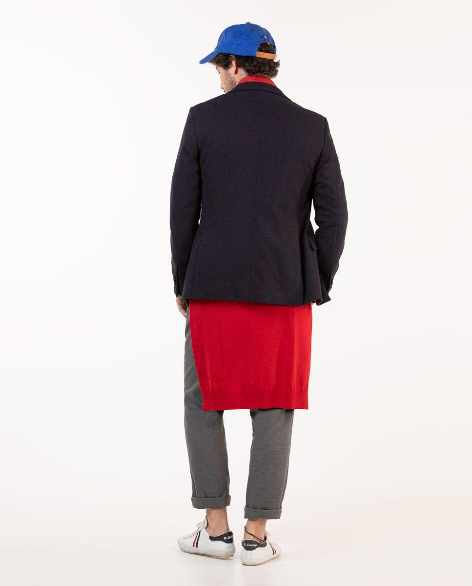 Navy Knit Blazer W/ Lining Image 5