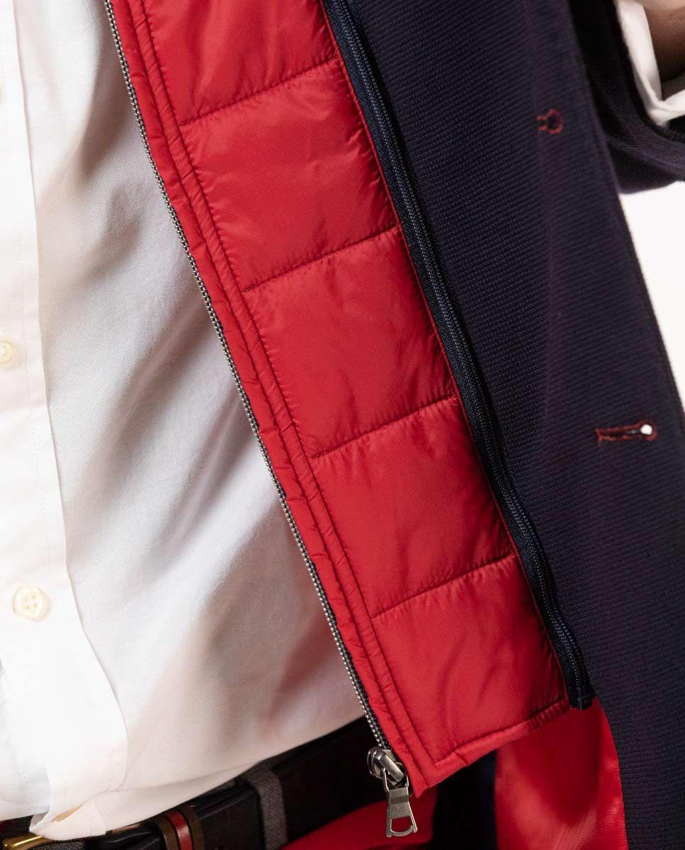Navy Knit Blazer W/ Lining Image 6