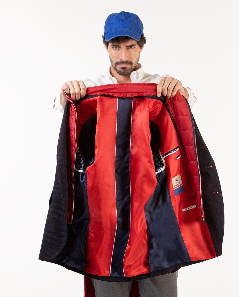 Navy Knit Blazer W/ Lining Image 8