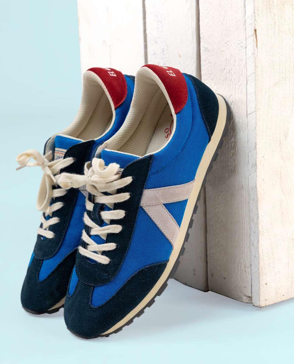 Blue Nylon Running Sneakers W Mesh. Image 8