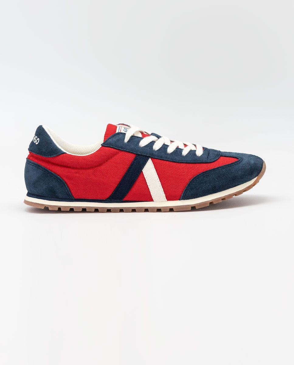 Red Nylon Walking Running Sneaker  Image 1