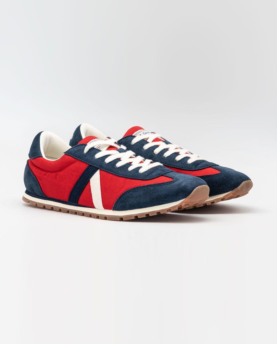 Red Nylon Walking Running Sneaker  Image 2