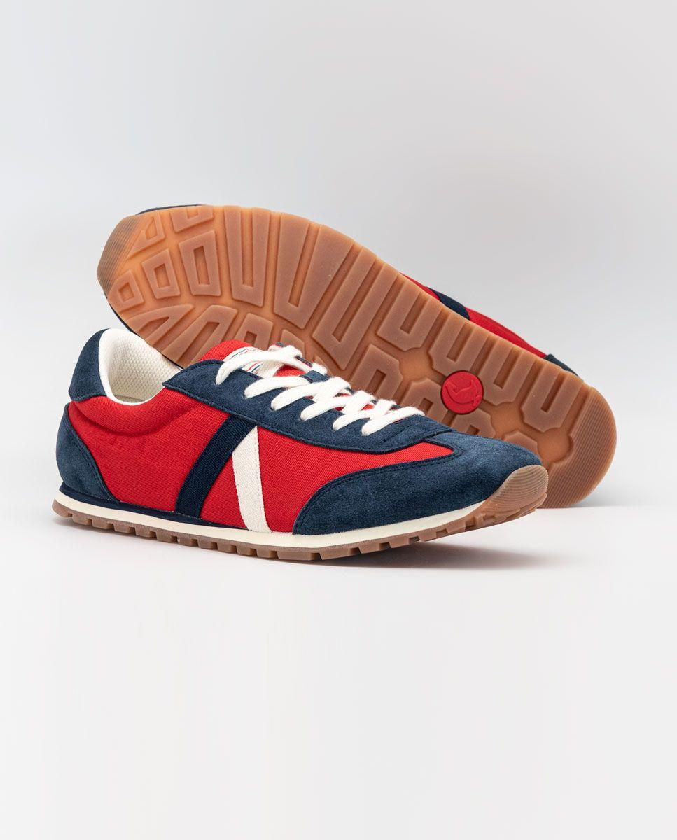 Red Nylon Walking Running Sneaker  Image 4
