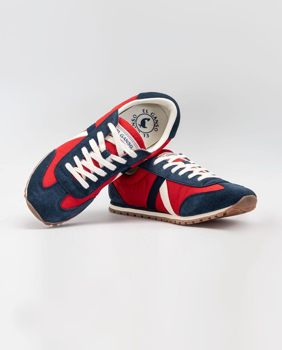 Red Nylon Walking Running Sneaker  Image 3
