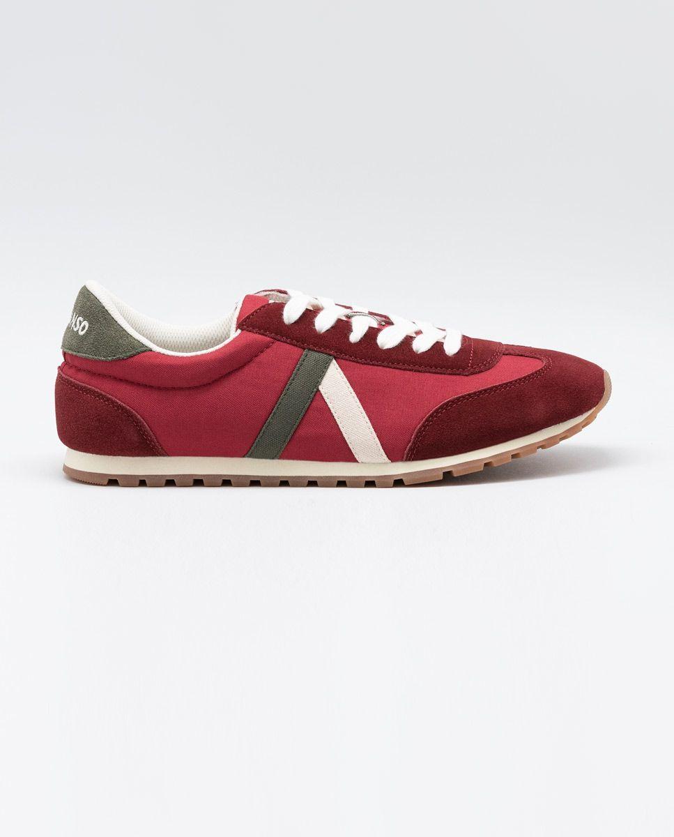 Maroon Nylon Walking Running Sneaker  Image 1