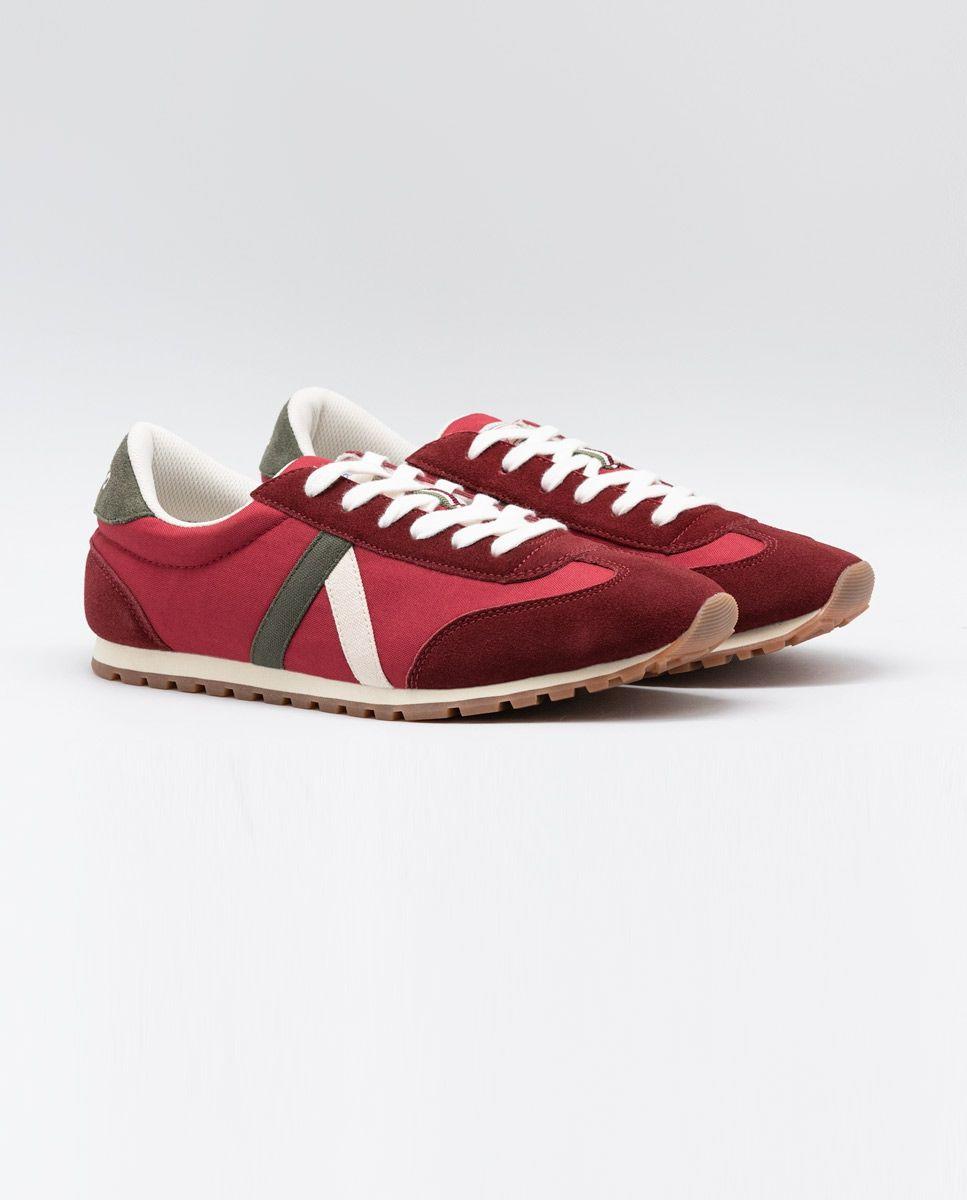 Maroon Nylon Walking Running Sneaker  Image 2