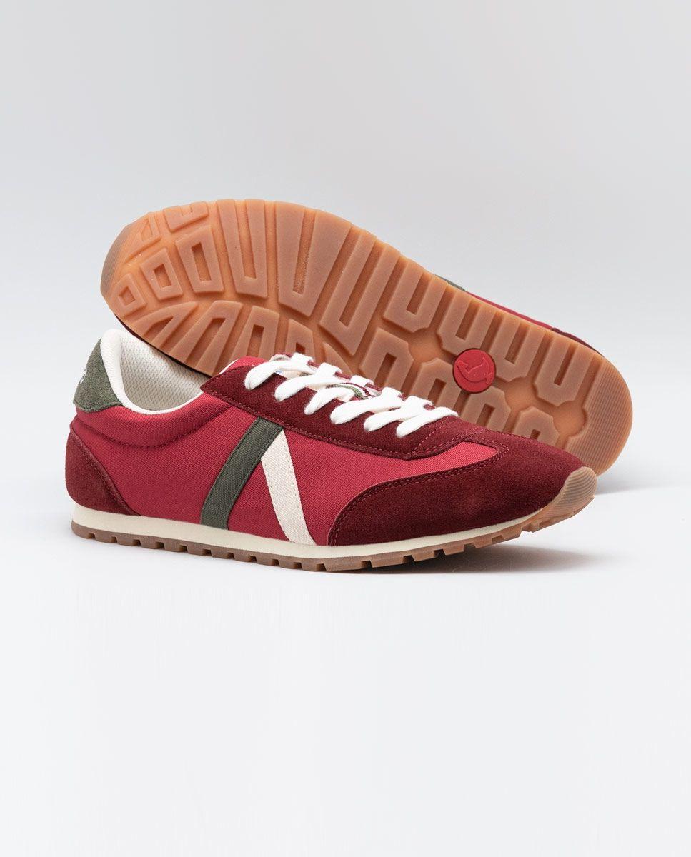 Maroon Nylon Walking Running Sneaker  Image 3