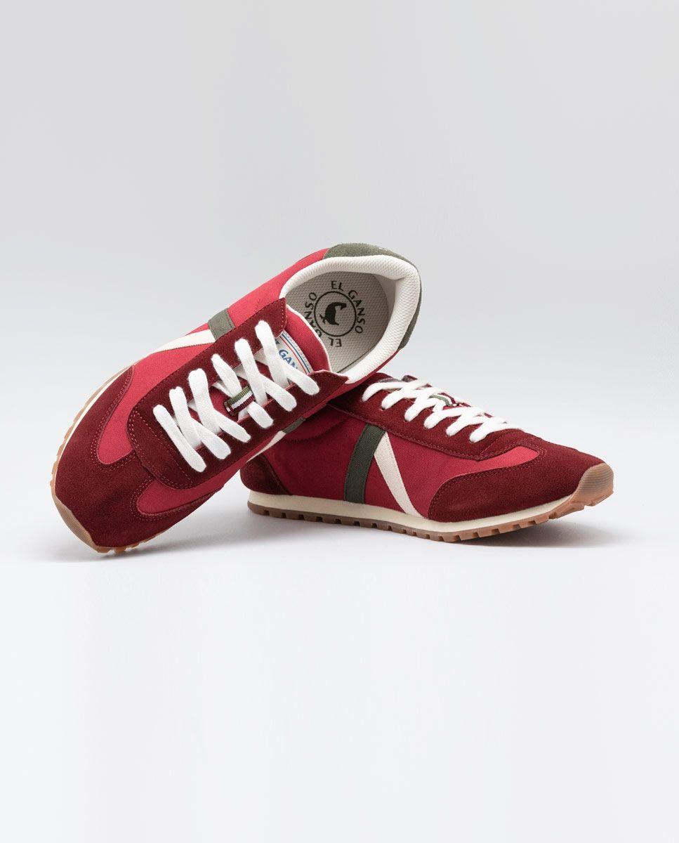 Maroon Nylon Walking Running Sneaker  Image 4