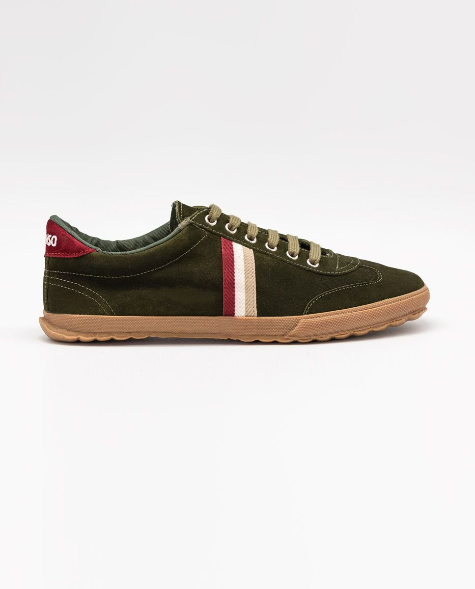 Beige Suede Gum-Sole Match Sneaker Image 1