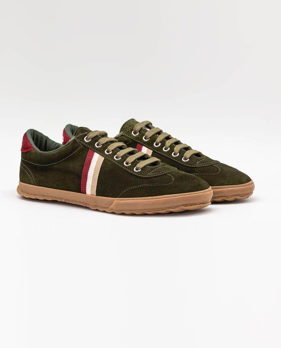 Beige Suede Gum-Sole Match Sneaker Image 2