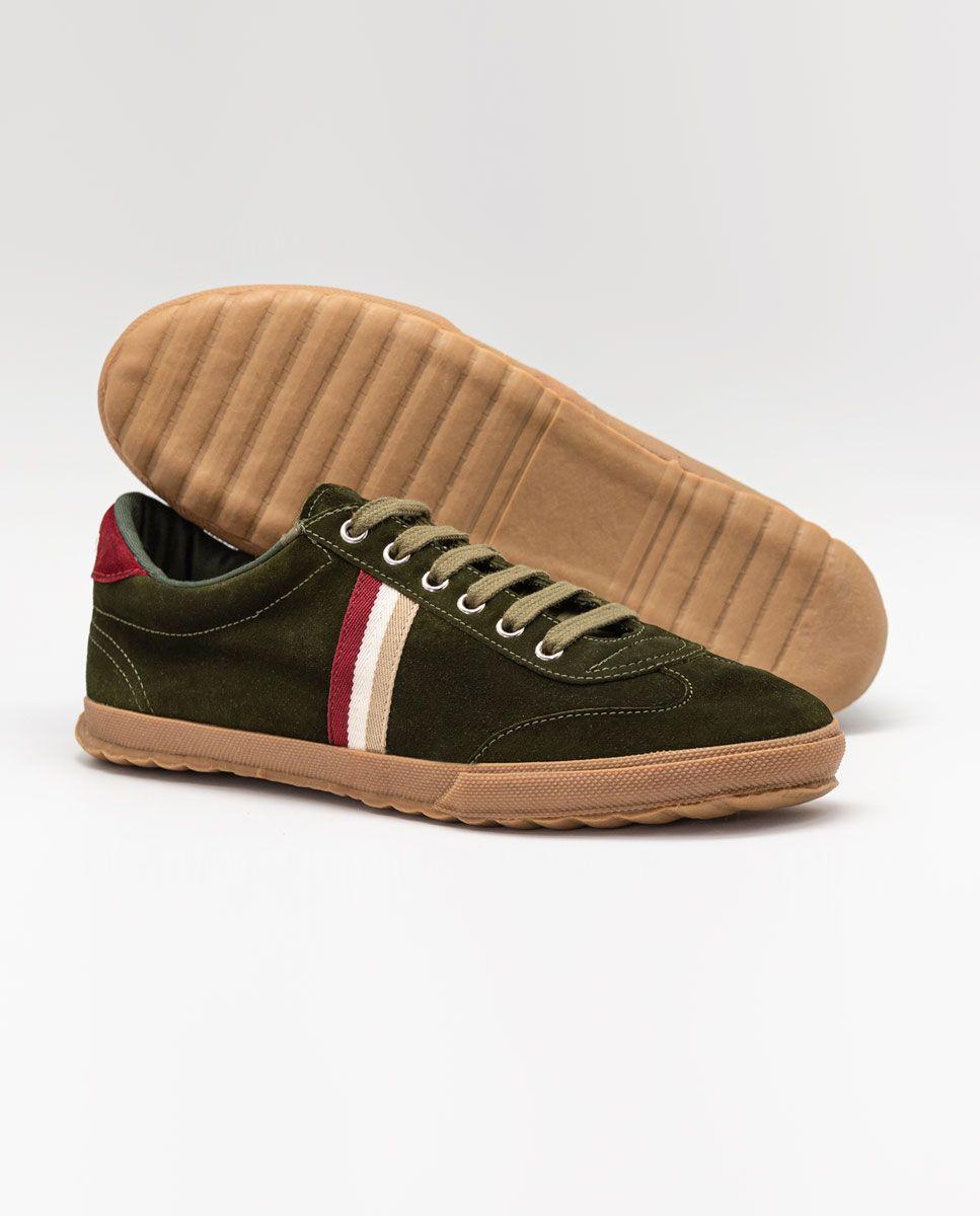 Beige Suede Gum-Sole Match Sneaker Image 4
