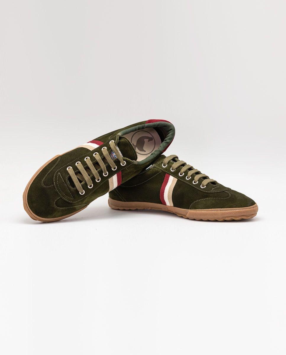 Beige Suede Gum-Sole Match Sneaker Image 3