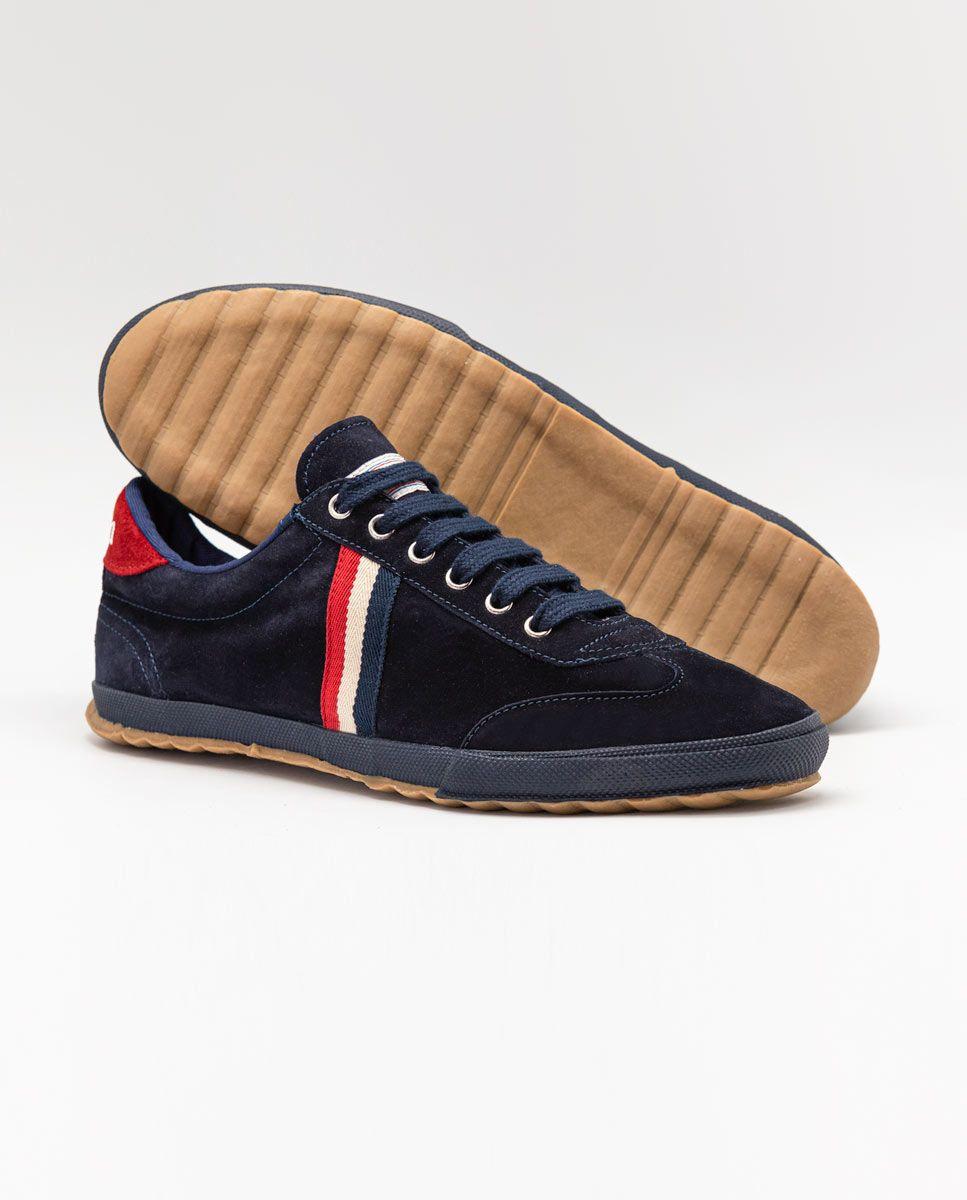 Navy Suede Gum-Sole Match Sneaker Image 4