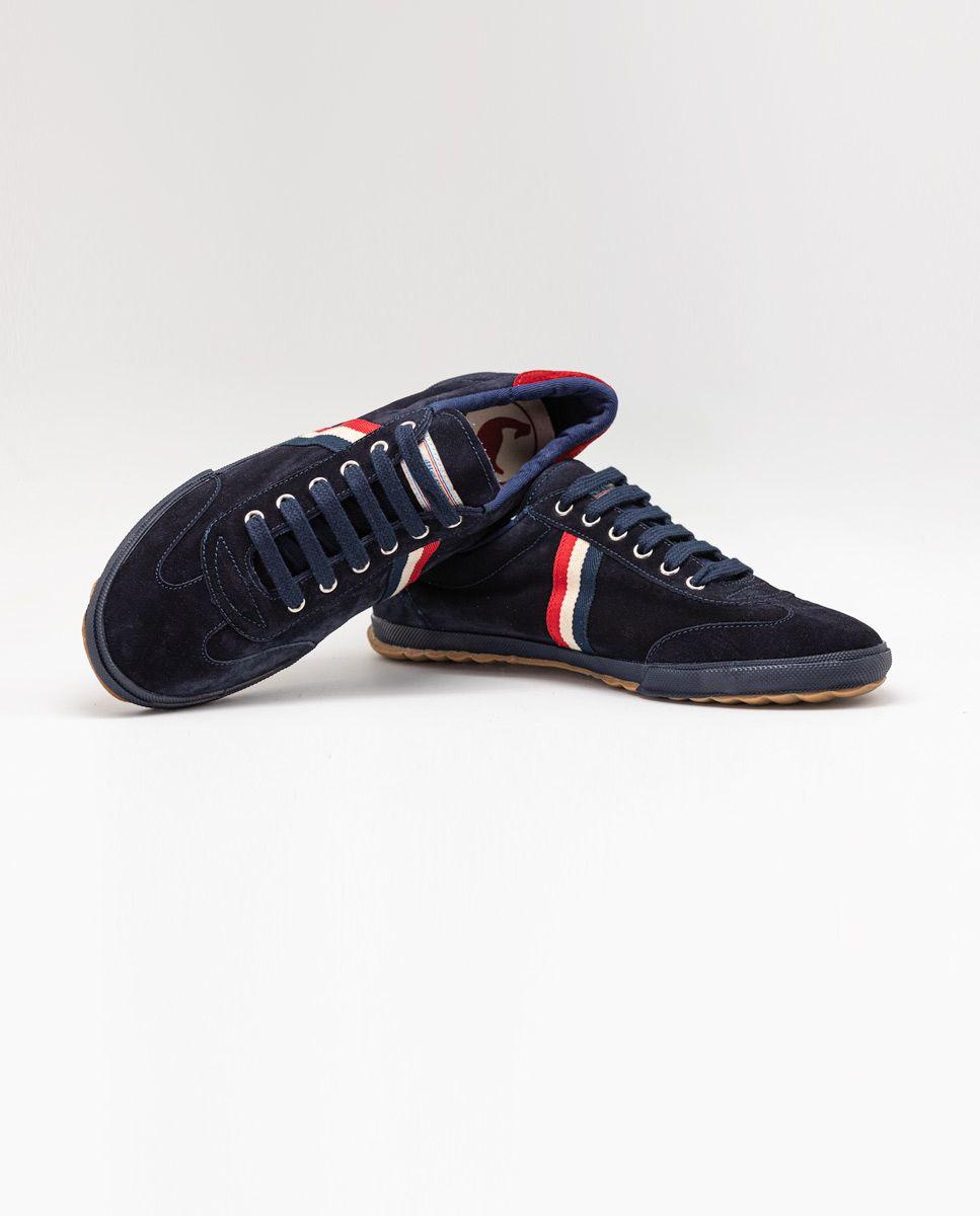 Navy Suede Gum-Sole Match Sneaker Image 3