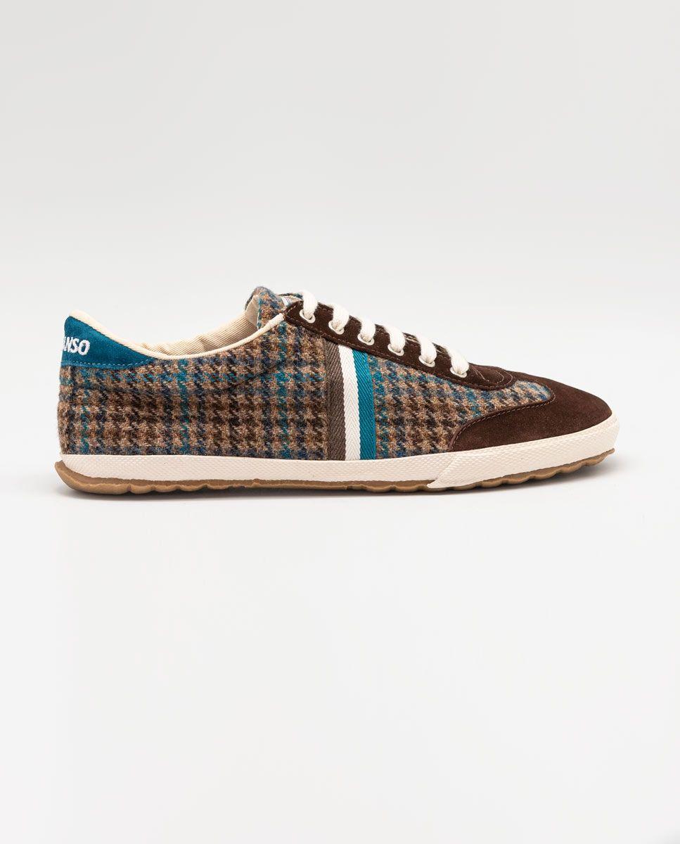Chaussure Match classique Pied de poule marron Image 1