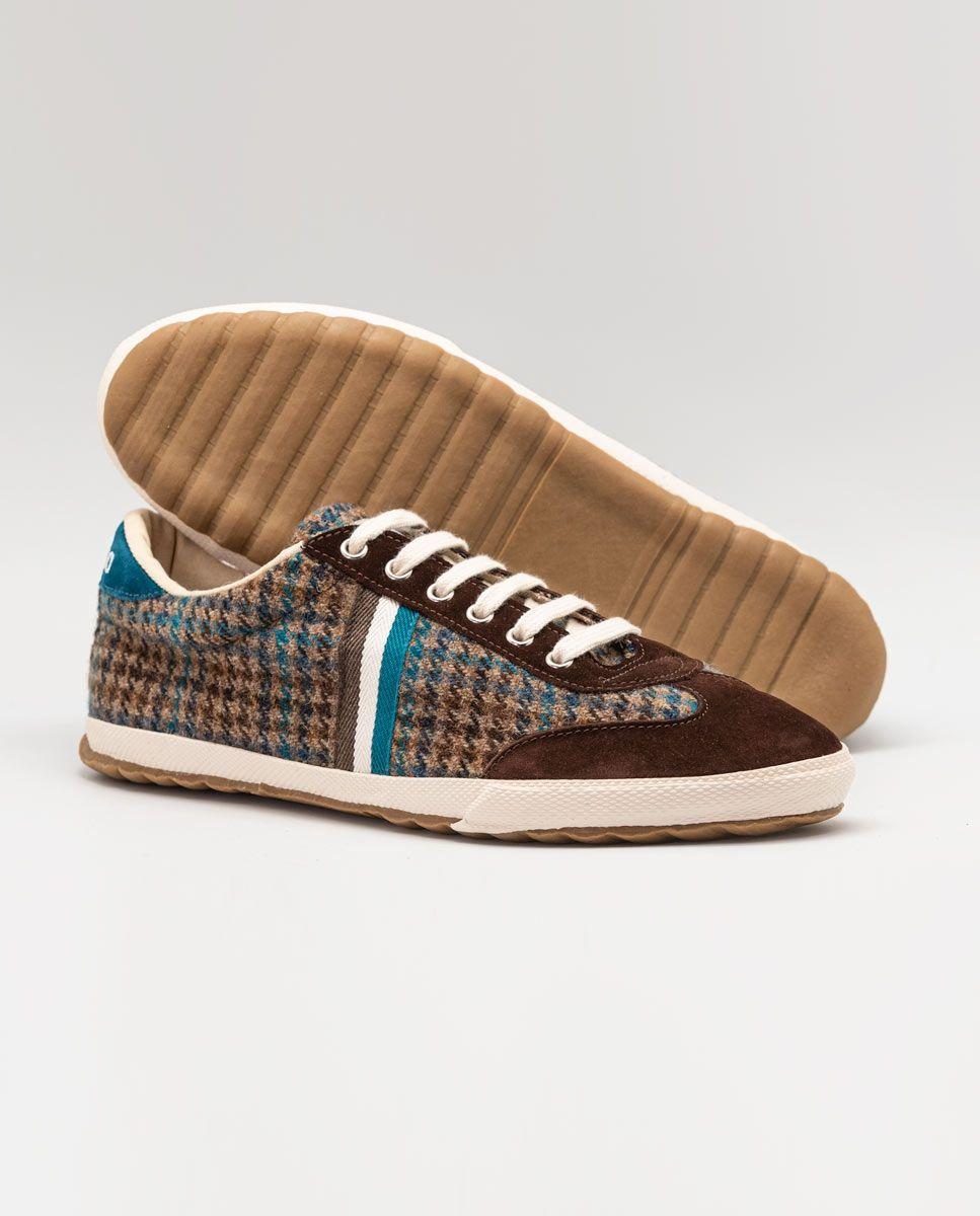 Chaussure Match classique Pied de poule marron Image 4