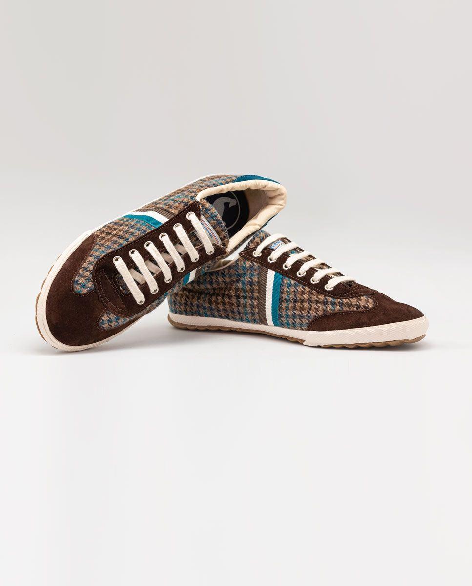 Chaussure Match classique Pied de poule marron Image 3