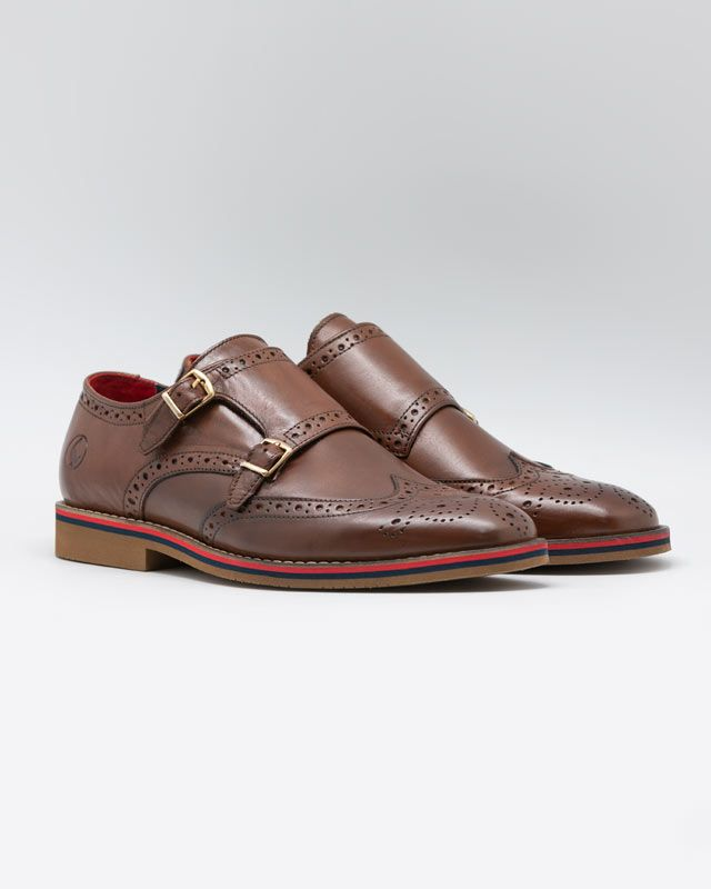 Leather Shoes W/Double Buckle Image 4