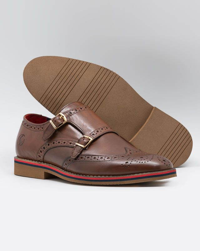 Leather Shoes W/Double Buckle Image 2