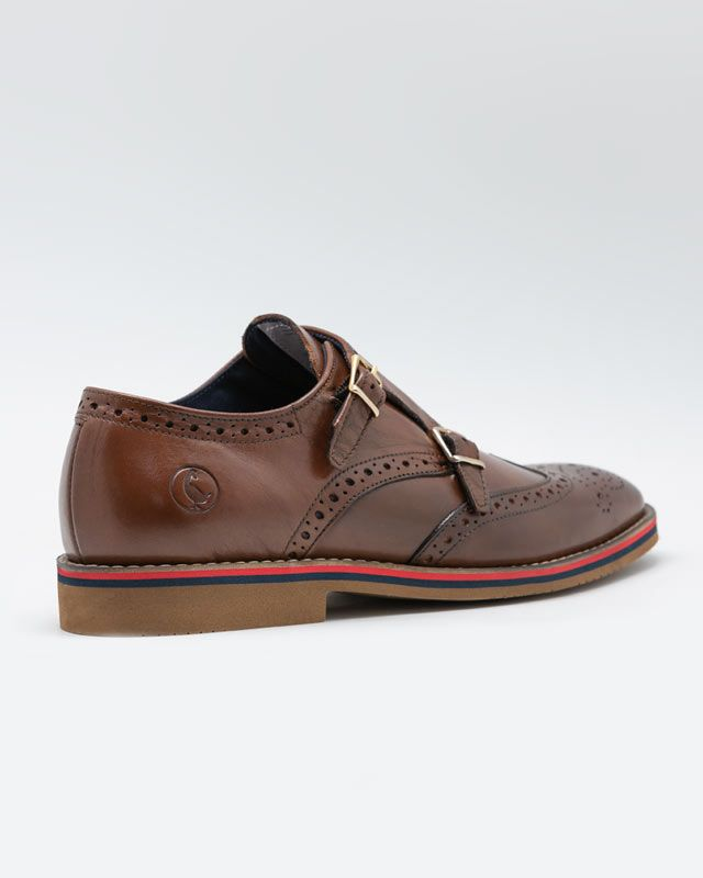 Leather Shoes W/Double Buckle Image 3