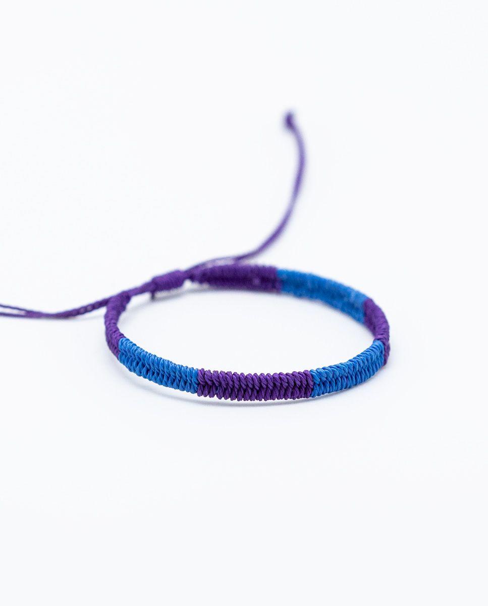 Pulsera Bicolor Azul/Morado Image 1