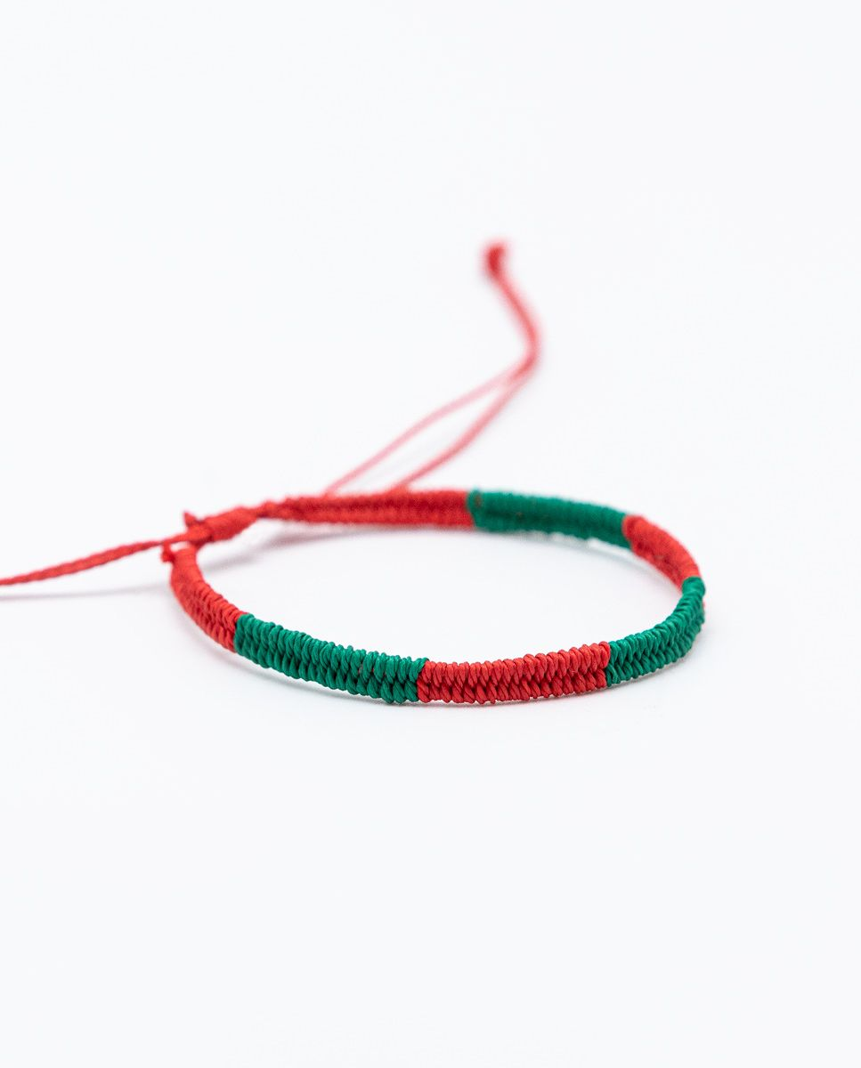 Pulsera Bicolor Rojo/Verde Image 1