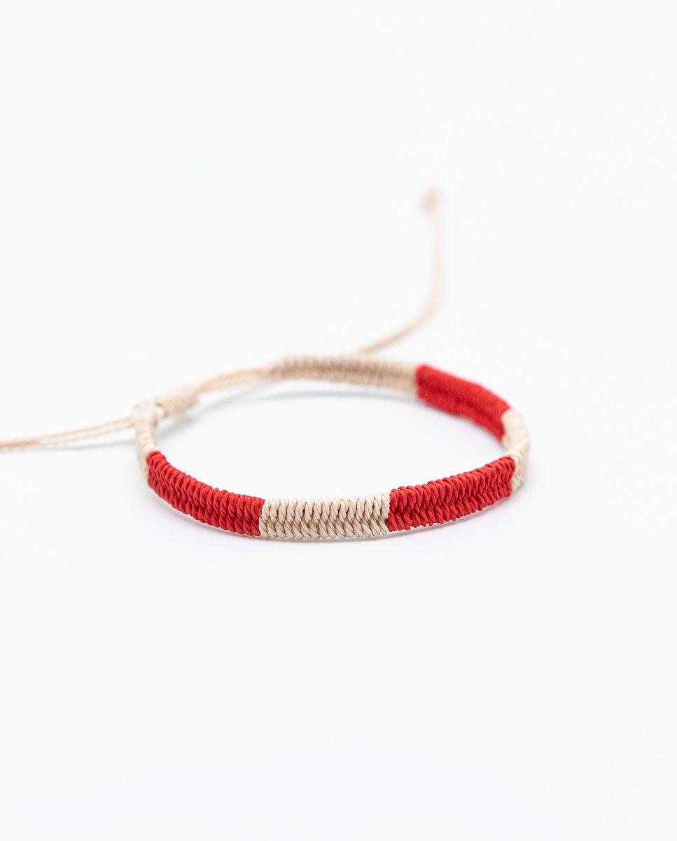 Pulsera Bicolor Rojo/Crudo Image 1