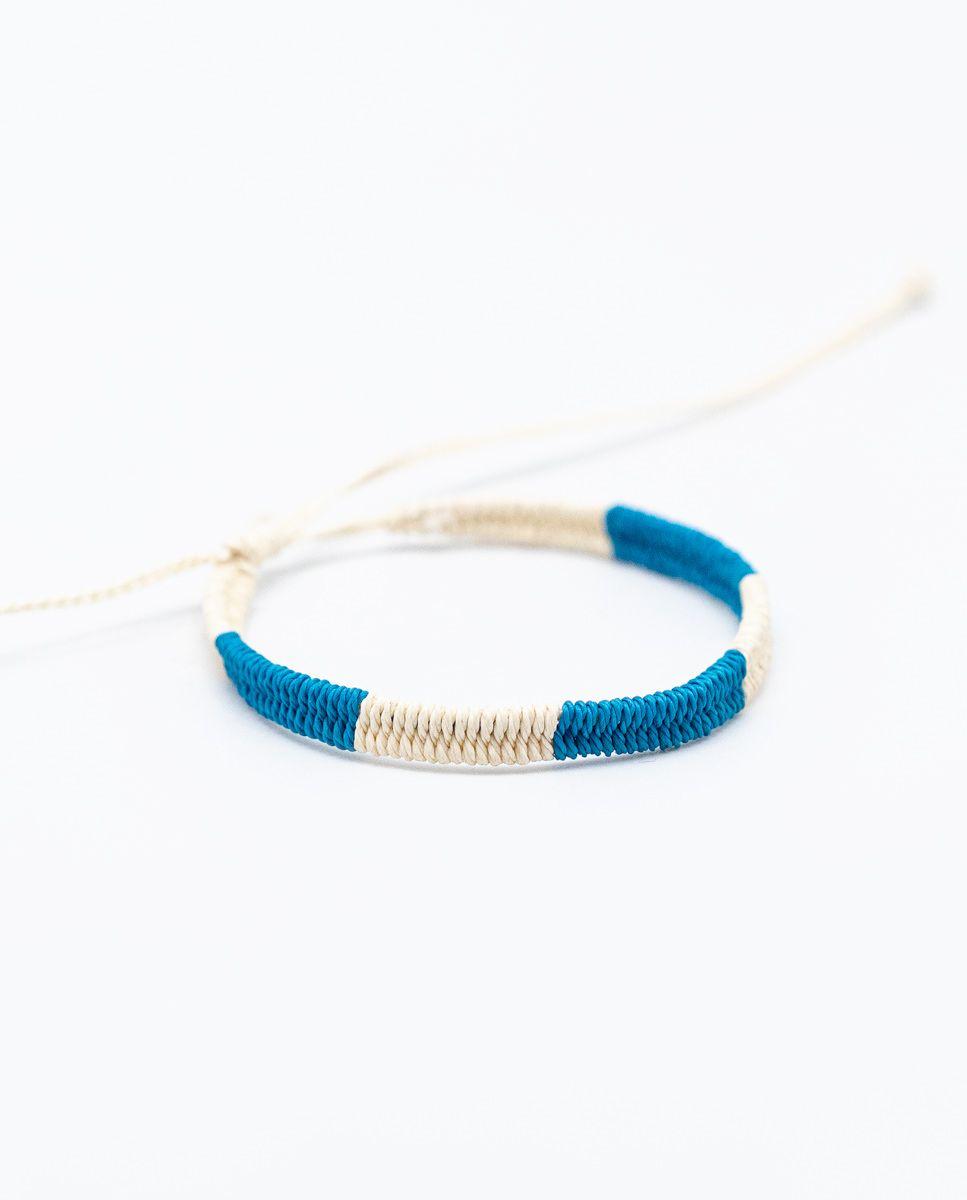 Pulsera Bicolor Azul/Crudo Image 1