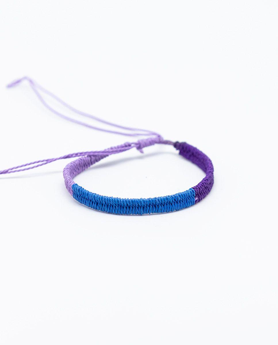 Pulsera Tricolor Morado/Azul/Malva Image 1
