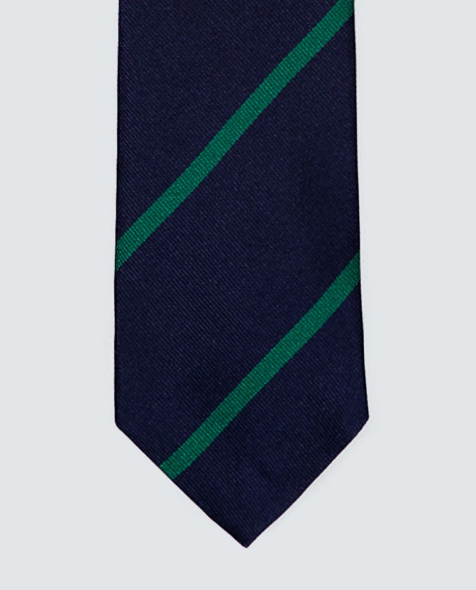 Green Striped Tie  Image 2