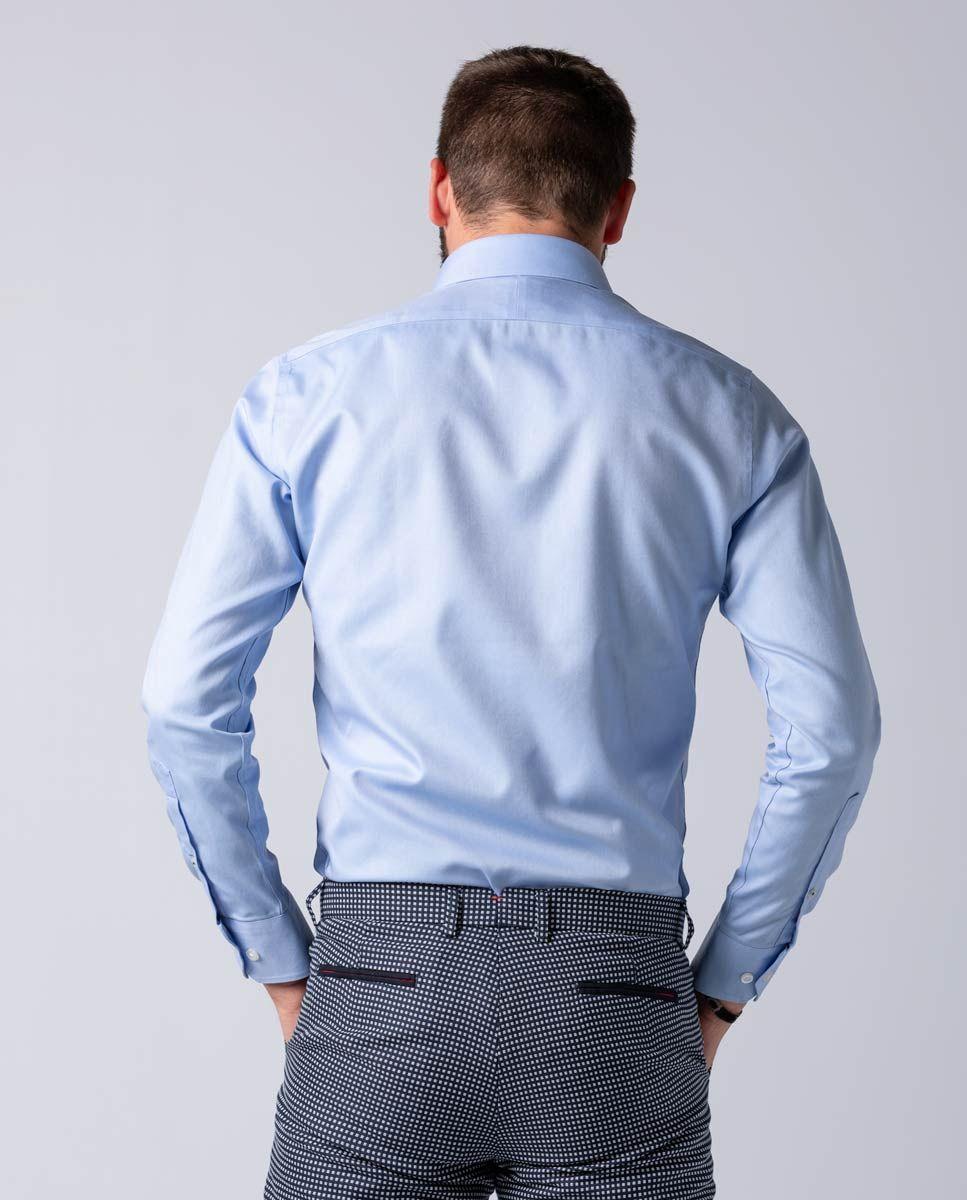 Sky Blue Panama Dress Shirts Image 5