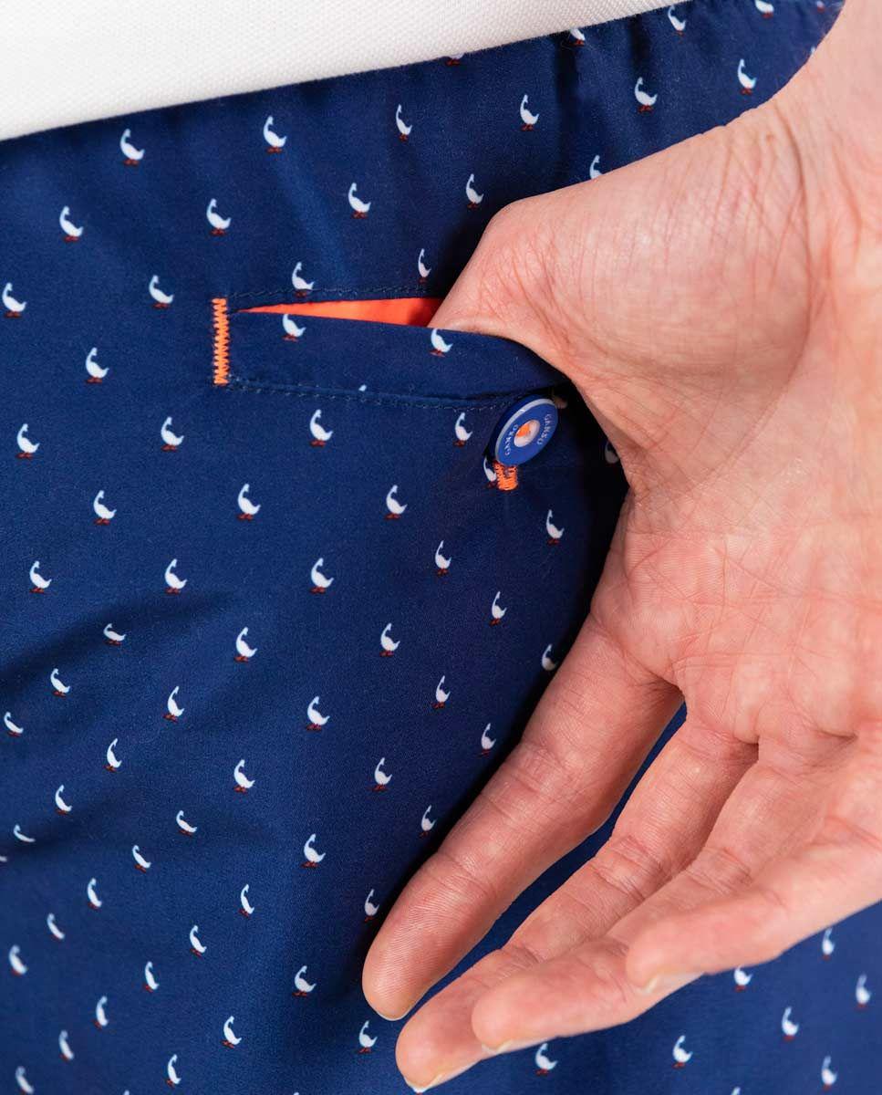 Short de bain Imprimé Bleu Foncé Image 2