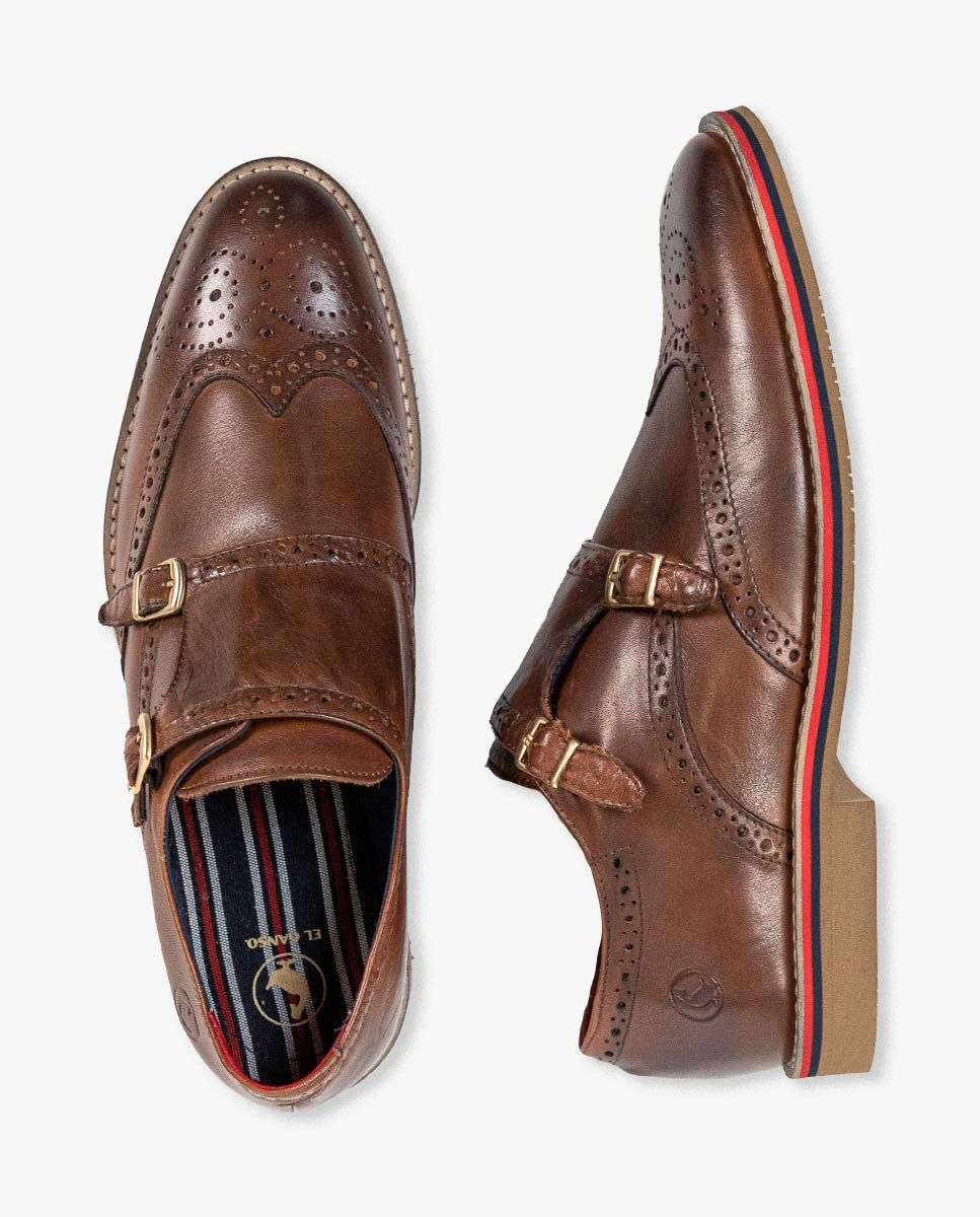 Leather Shoes W/Double Buckle Image 5