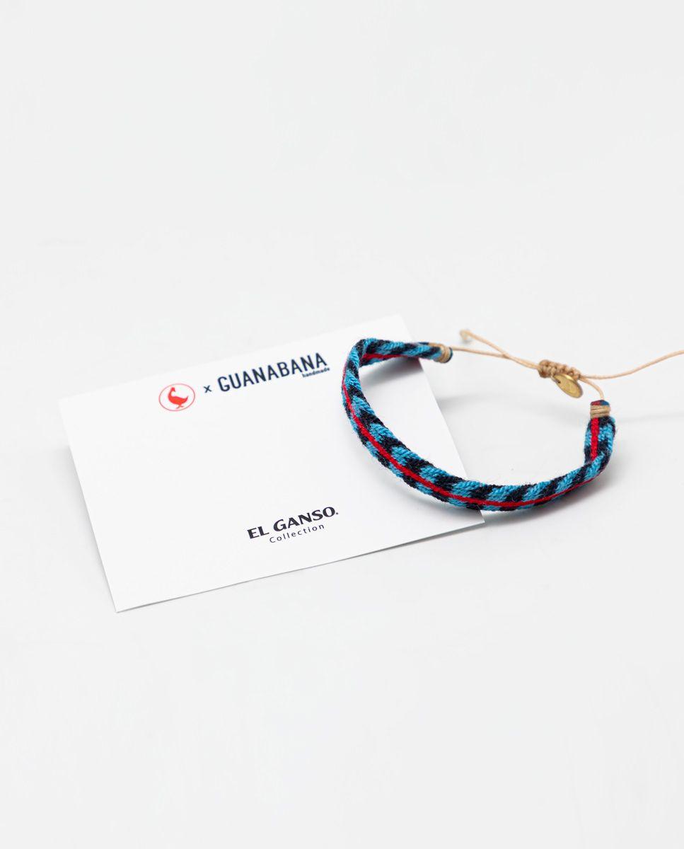 Navy/Sky Blue Bracelet Red Stripe Image 1