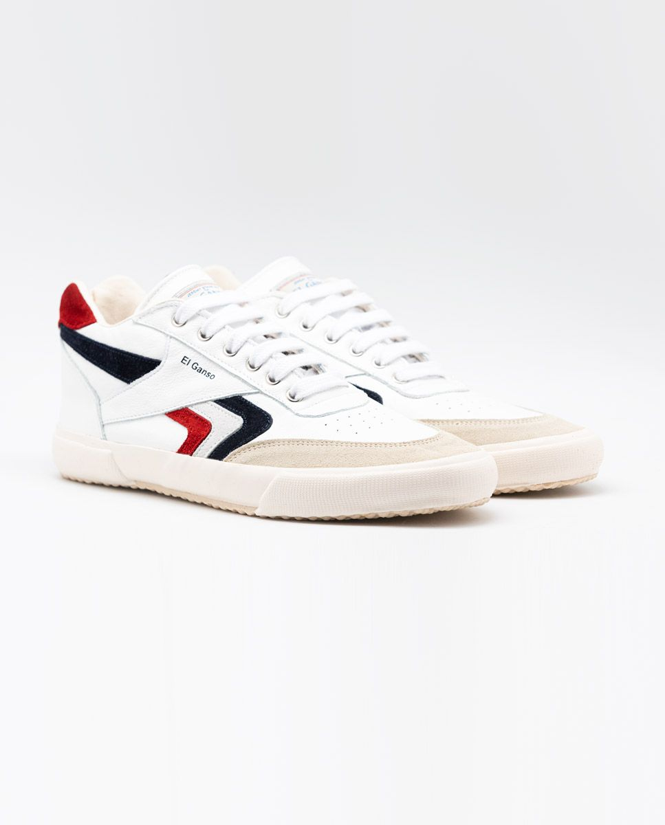 White Leather Basket Sneaker Image 1