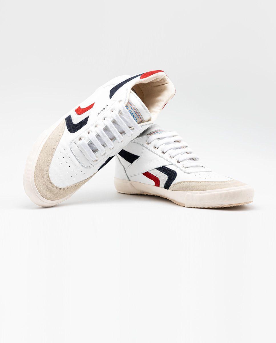White Leather Basket Sneaker Image 4